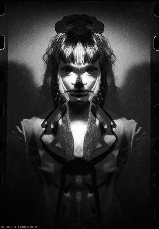 Claudia double exposure portrait