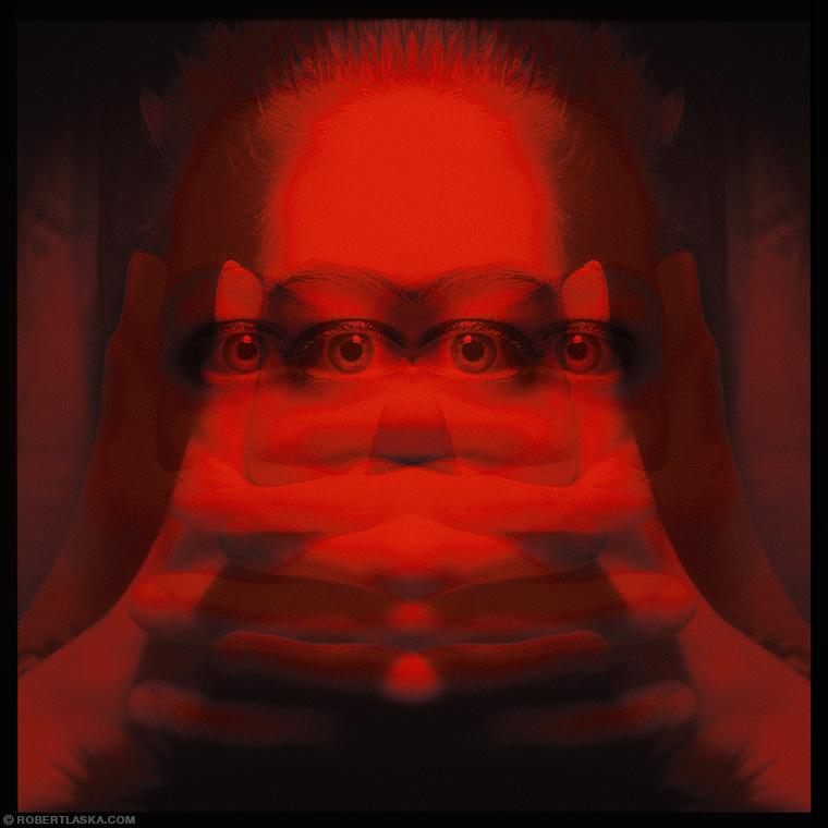 Mao double exposure portrait 3