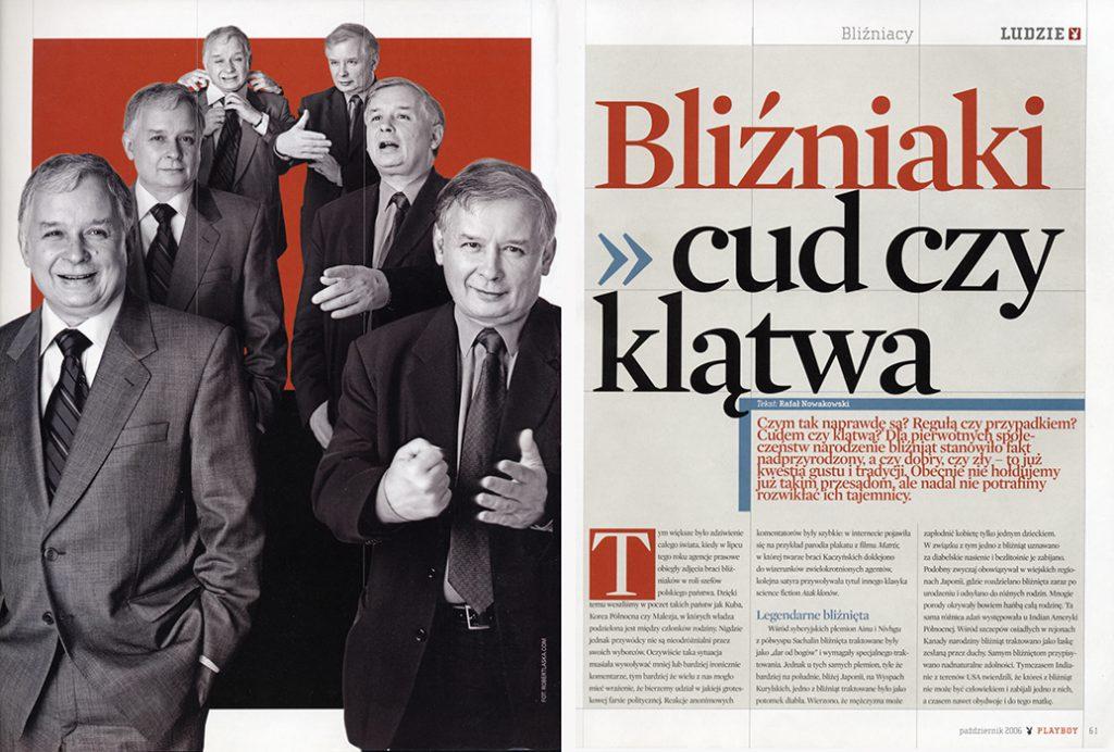 Lech, Jarosław Kaczyńscy / Warszawa 2002