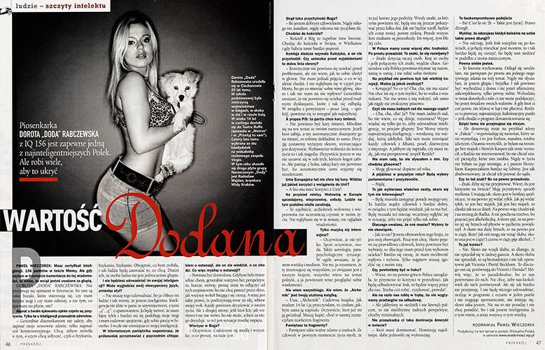 Doda Dorota Rabczewska / Przekrój 2004