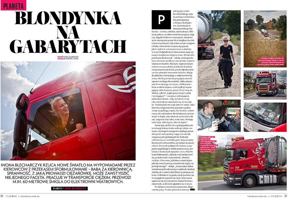 """Iwona """"Trucking Girl"""" Blecharczyk"""