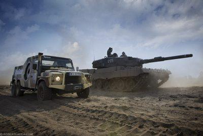 Land Rover Defender 6x6 Leopard 2A4 11 Dywizji Kawalerii Pancernej Żagań / TopGear