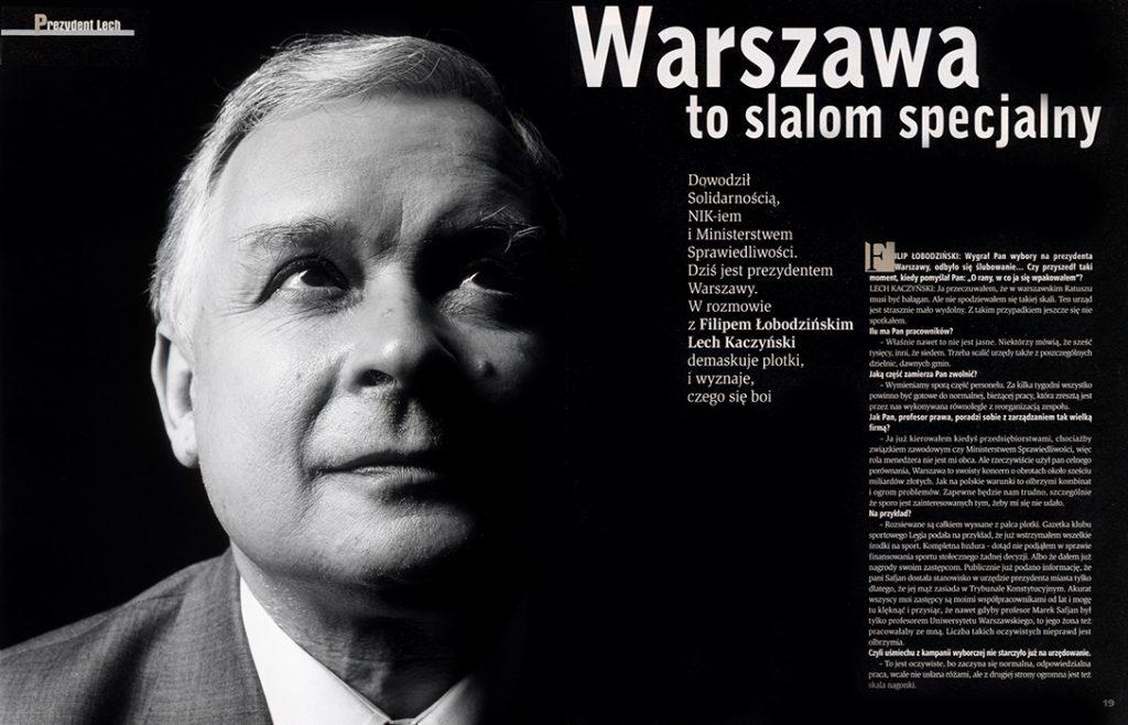 Lech Kaczyński / Przekrój