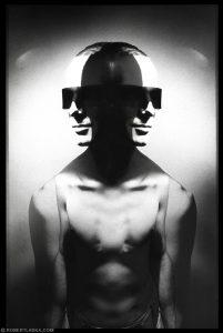 Cyber Michał double exposure portraits
